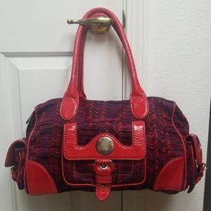 Large MARC JACOBS purse Duffle bag Red & purple